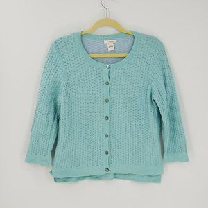 Sundance Button Front 3/4 Sleeve Cardigan Sweater